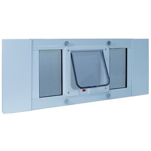 Ideal Pet Aluminum Sash Window Cat Flap For 33 to 38 Inch Windows