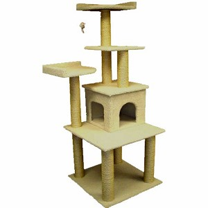 64 Inch Bungalow Cat Tree