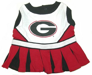 Georgia Bulldogs Cheerleader Outfit for Dogs