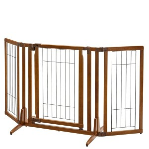 Premium Plus Freestanding Pet Gate with Door - Angled
