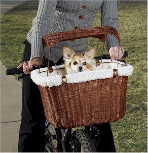 Tagalong Wicker Bicycle Basket Pet Carrier