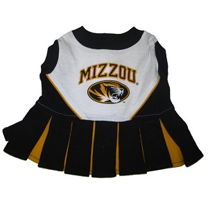 Missouri Tigers Cheerleader Outfit for Dogs