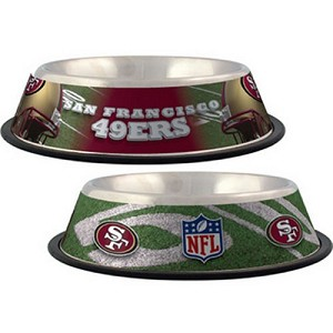 San Francisco 49ers Stainless Dog Bowl