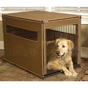 Wicker Dog Crate