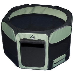Travel Lite Soft-Sided Pet Pen in Sage