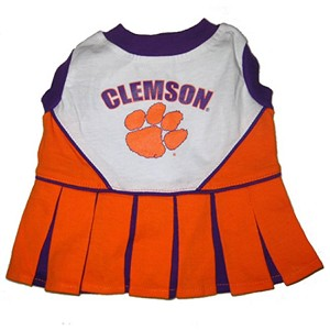 Clemson Tigers Cheerleader Outfit for Dogs