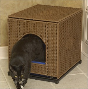 Wicker Litter Box Cover