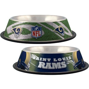 St. Louis Rams Stainless Dog Bowl
